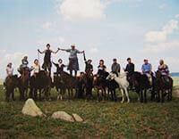 モンゴル乗馬ツアー集合写真
